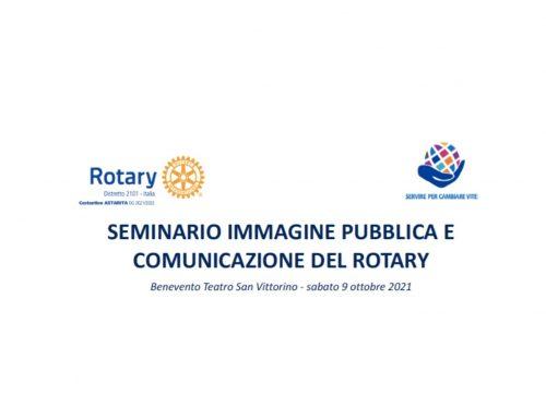 """Il 9 ottobre a Benevento il seminario Distrettuale """"Immagine pubblica e comunicazione del Rotary"""""""